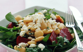 Butter bean and beetroot salad