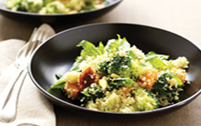 Broccoli and kumara couscous