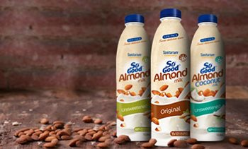 Almond and coconut milks