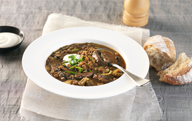 Mighty marmite and lentil soup