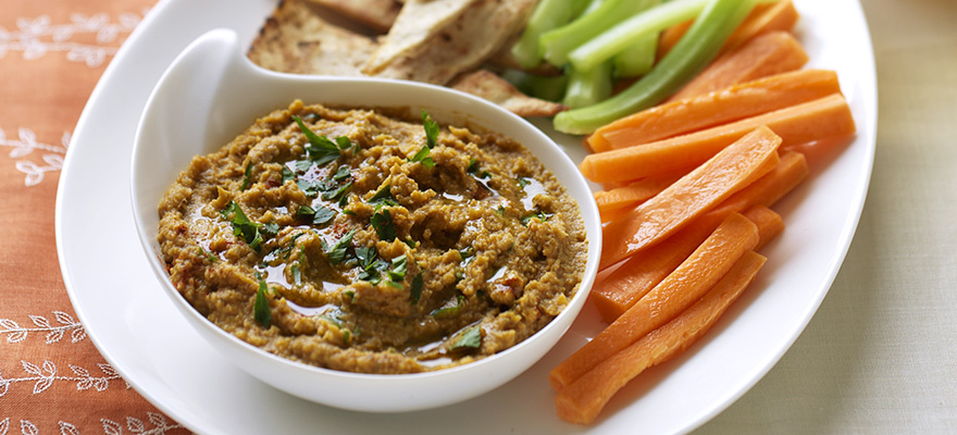 Eggplant and chickpea dip