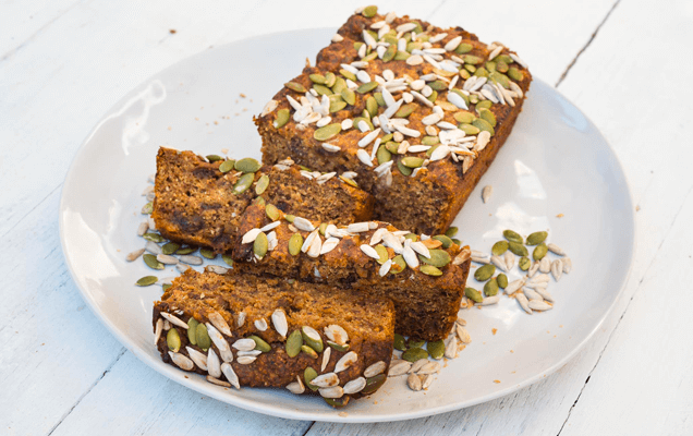 Seeded date loaf