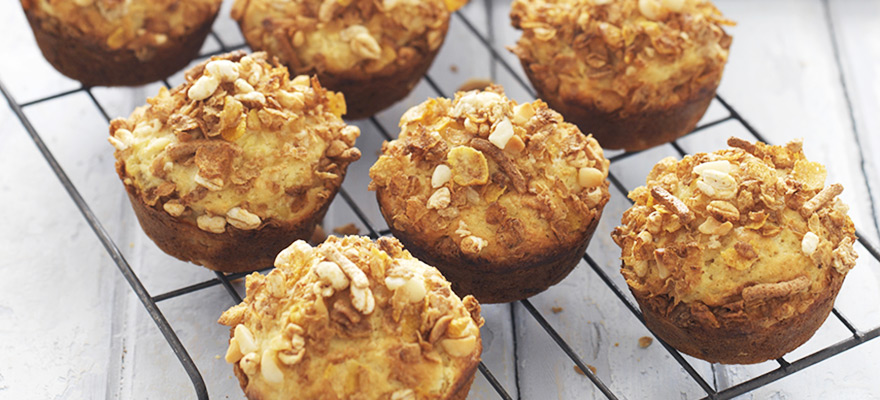 Macadamia pineapple cluster muffins
