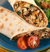 Marmite™, cheese and pecan wraps
