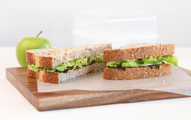 Marmite and lettuce sandwich