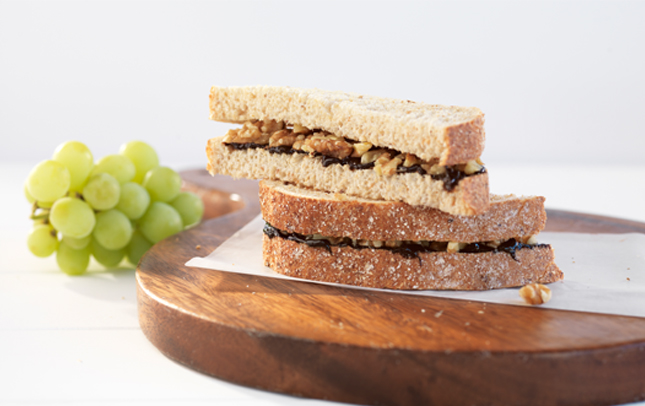Marmite and walnut sambo