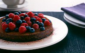 Chocolate chickpea torte