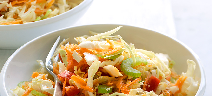 Light summer coleslaw