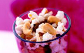 Fruit and nut popcorn