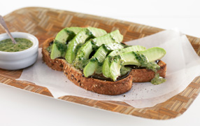 Marmite™ avocado open sandwich