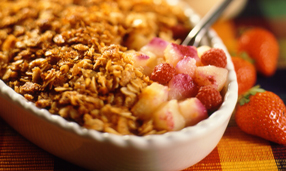 Gluten free apple and berry crumble